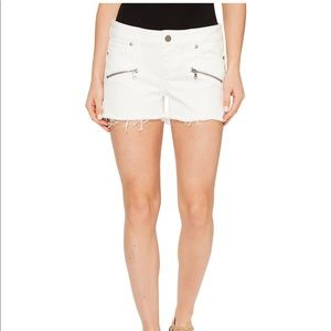 Paige | Indio Zip Cut-Off Shorts In Optic White